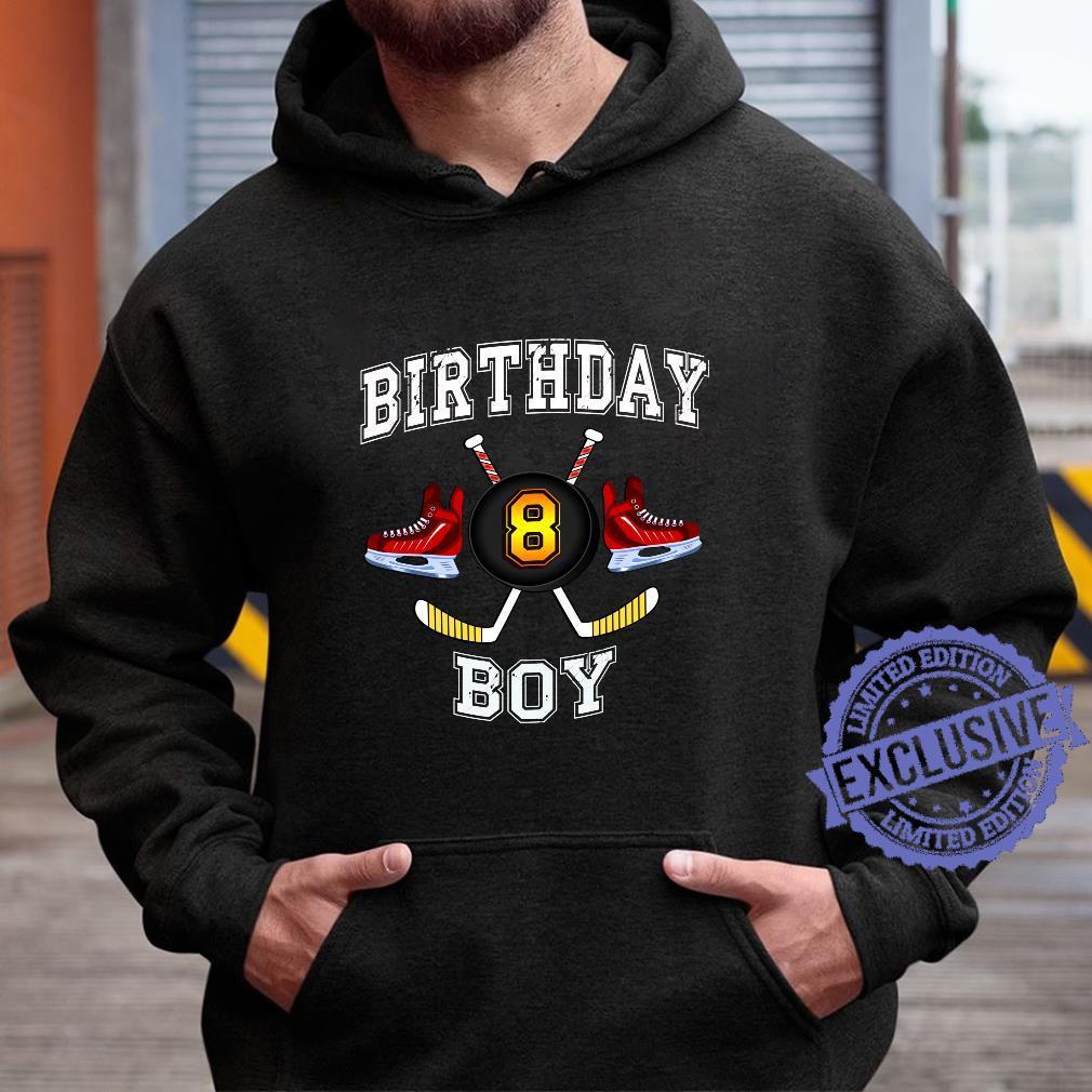 8. Geburtstagskind. Eishockey 8 Jahre alt Langarmshirt Shirt hoodie