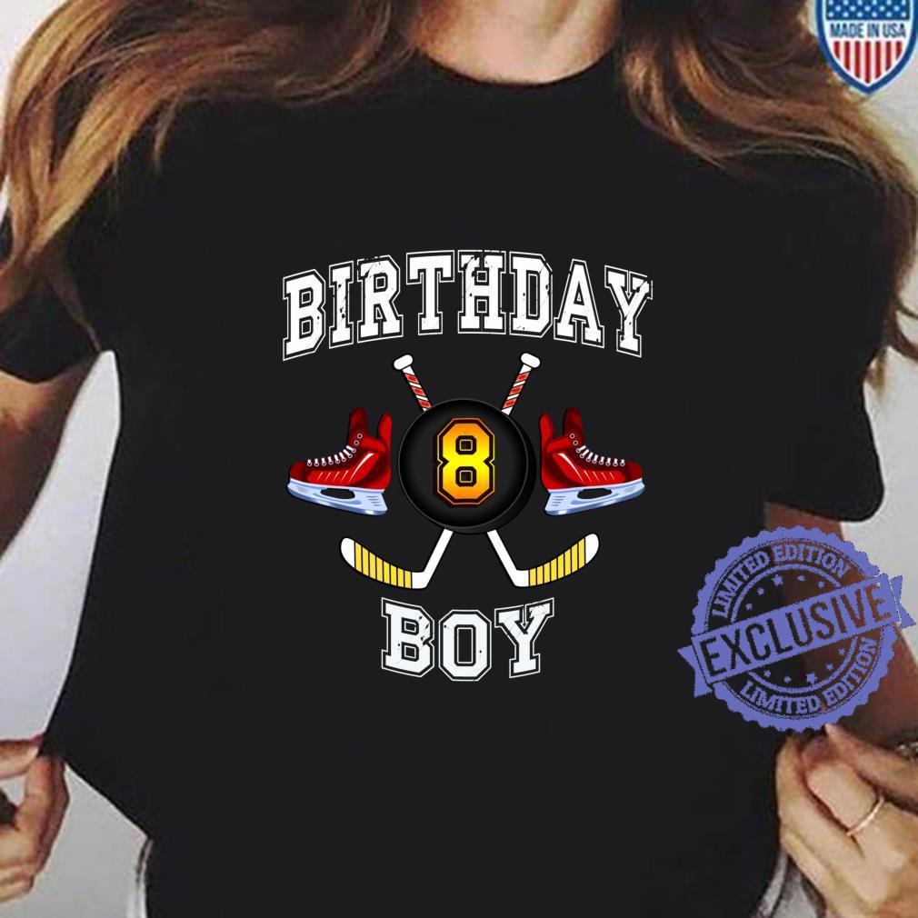 8. Geburtstagskind. Eishockey 8 Jahre alt Langarmshirt Shirt ladies tee