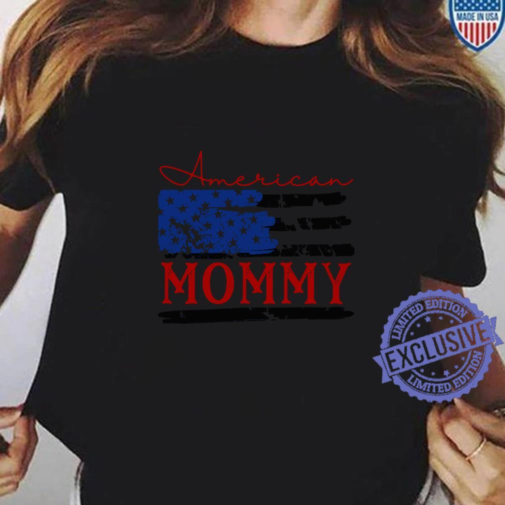 American Mommy Flag, Cute 4th of July USA Shirt ladies tee