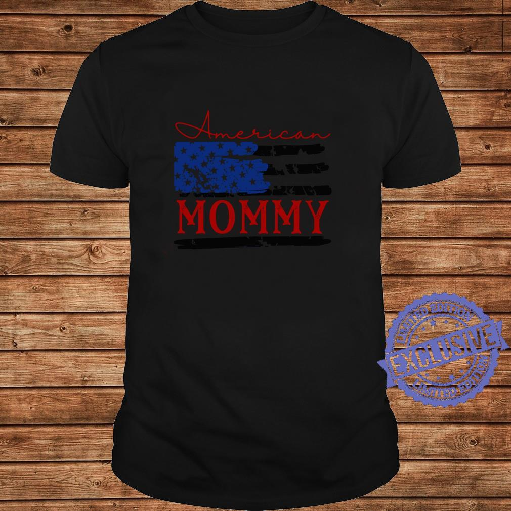 American Mommy Flag, Cute 4th of July USA Shirt long sleeved
