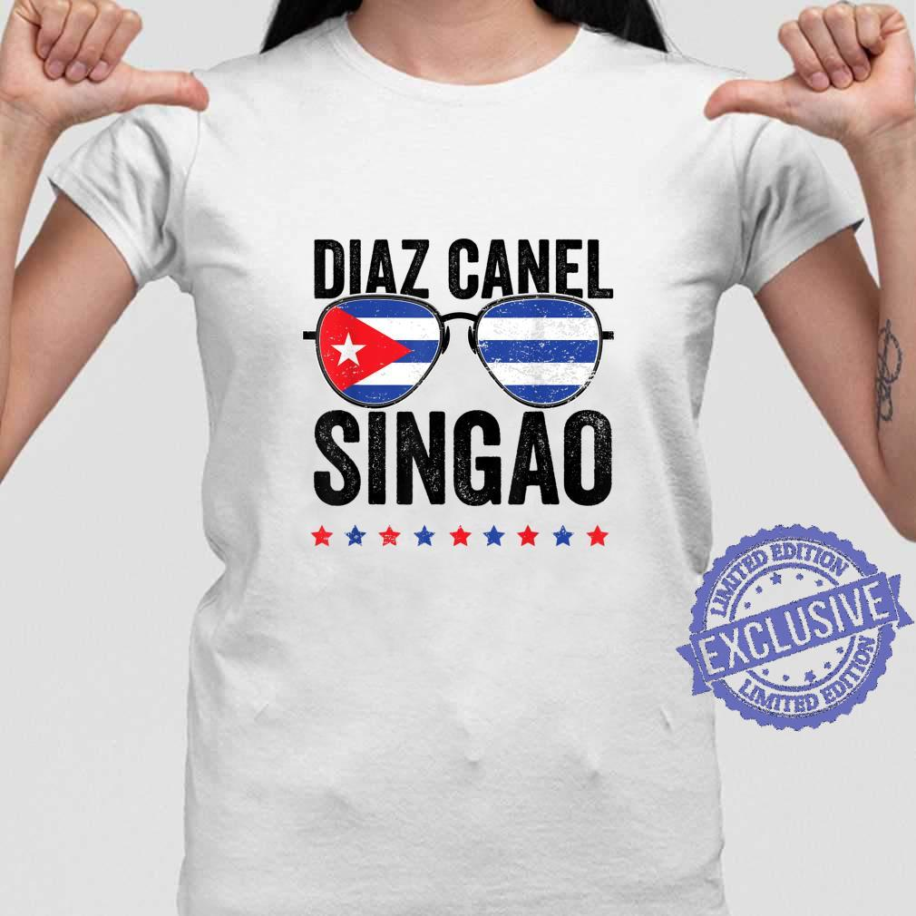 Diaz Canel Singao Sos Cuba Flag Libre Libertad Free Cuba Shirt ladies tee