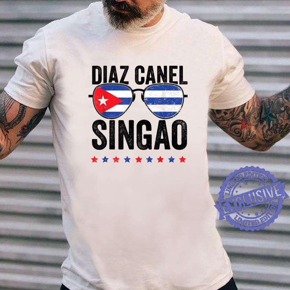 Diaz Canel Singao Sos Cuba Flag Libre Libertad Free Cuba Shirt long sleeved