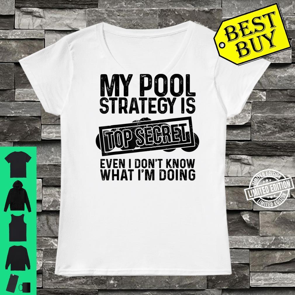 Funny Pool Player Billiards Game Play Shirt ladies tee