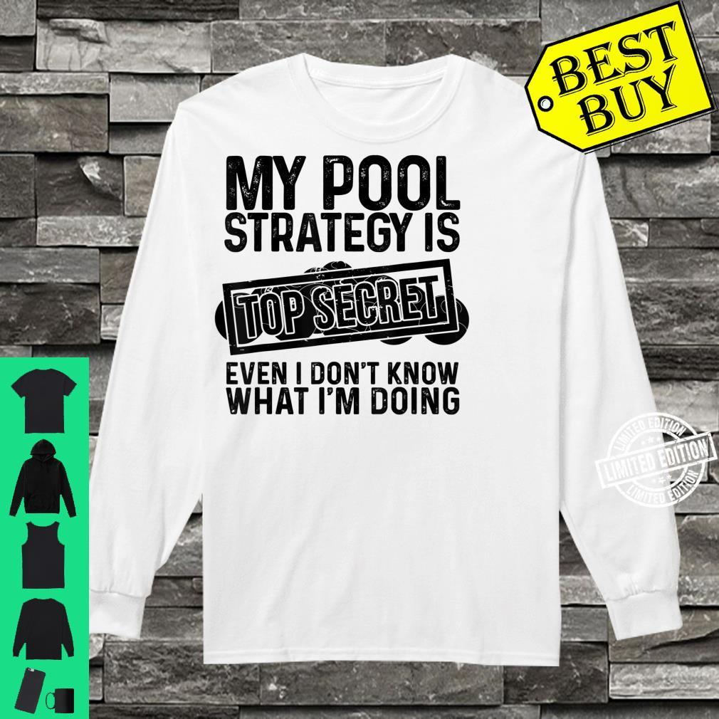 Funny Pool Player Billiards Game Play Shirt long sleeved