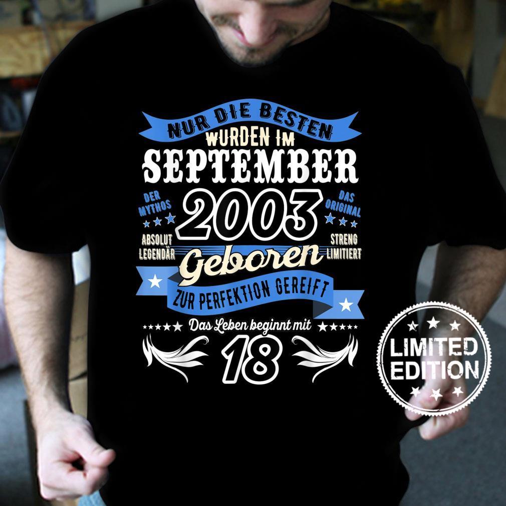 Geburtstag Legendär seit September 2003 Geburt von Legenden Shirt