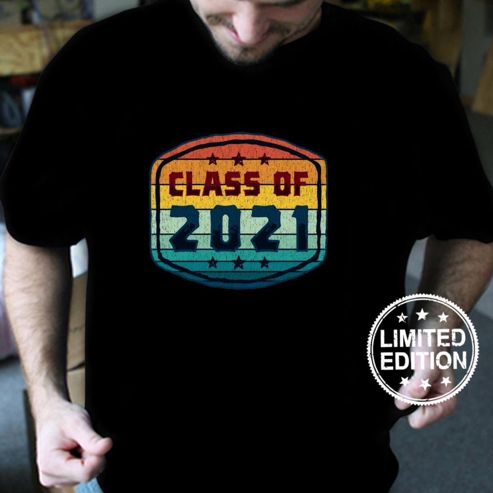 Geschenk zum Schulabschluss der Klasse 2021 – Absolventen im RetroStil Langarmshirt Shirt