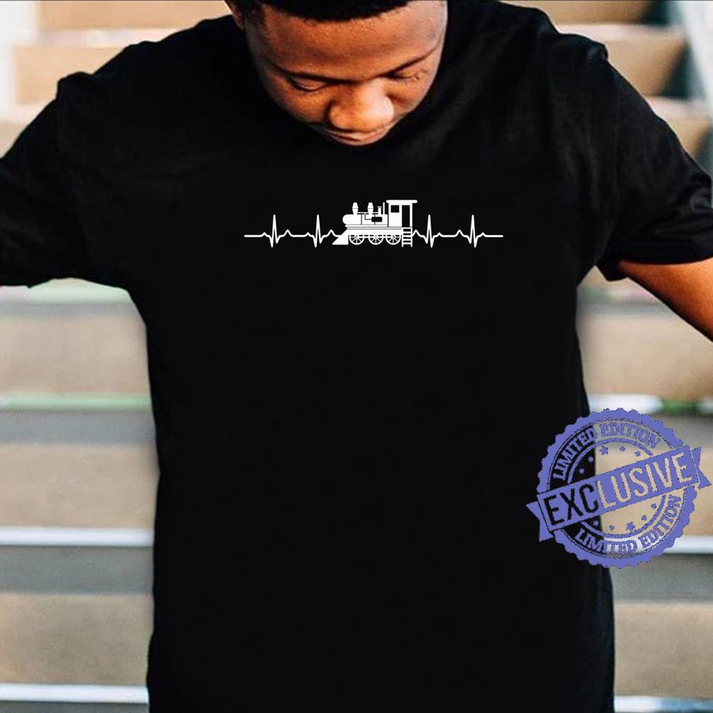 Great Train Design Steam Locomotive Heartbeat Shirt