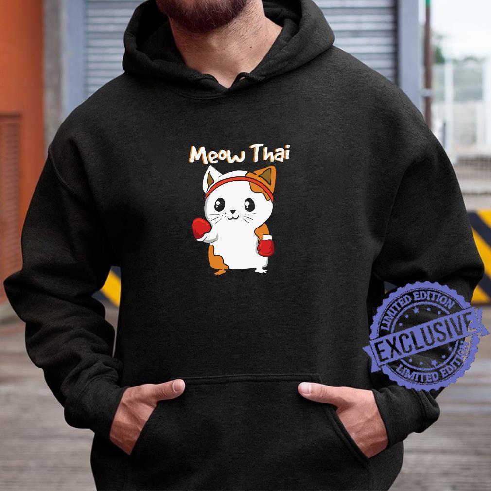 Meow Thai Martial Arts Katze JiuJitsu Karate Boxen Kawaii Shirt hoodie