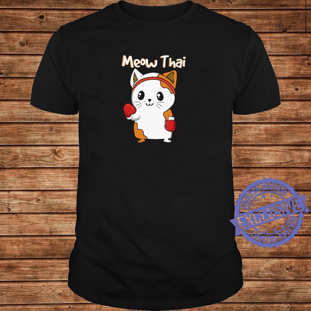 Meow Thai Martial Arts Katze JiuJitsu Karate Boxen Kawaii Shirt long sleeved