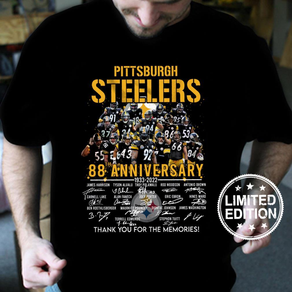 Pittsburgh steelers 88th anniversary 1933 2022 thank you for the memories shirt