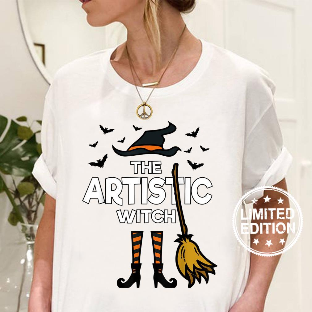The Artistic Witch, Matching Family Halloween Party Costume Shirt