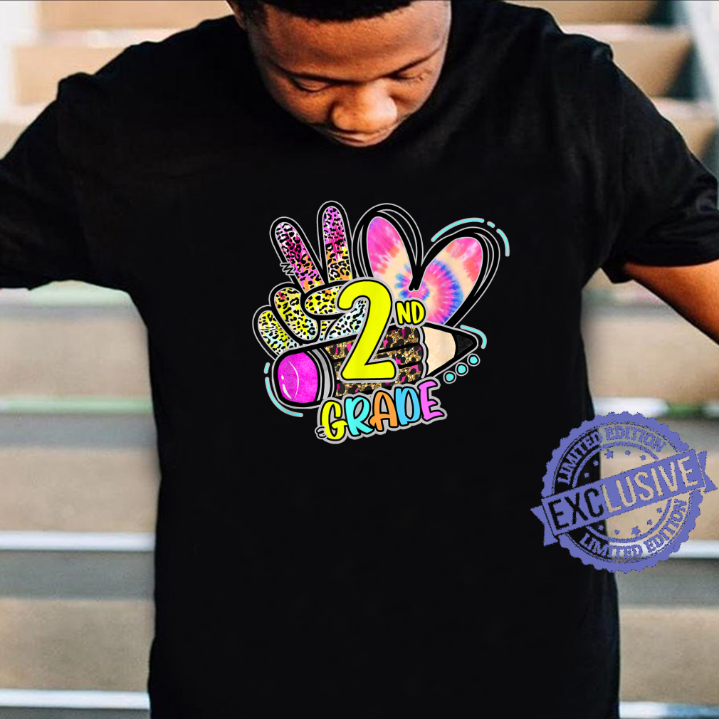 Tie Dye Leopard Peace Out 2nd Grade Teacher First Day School Shirt