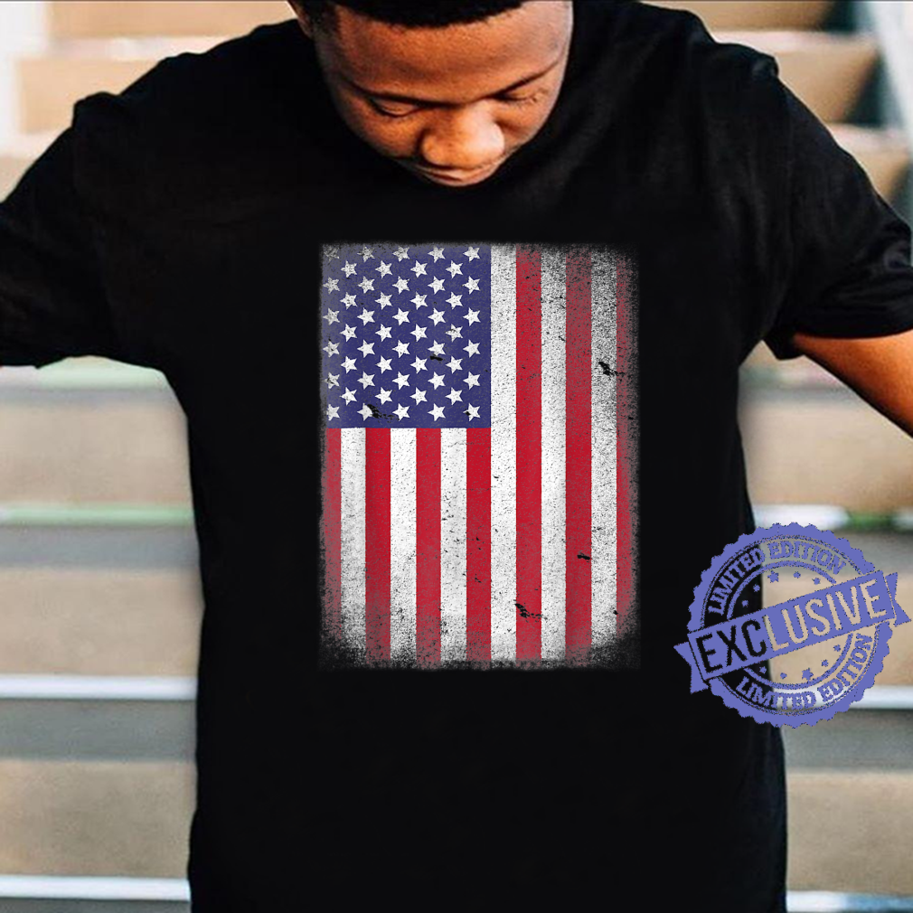 USA Flag 4th July American Red White Blue Star Stripes 4 Day Shirt