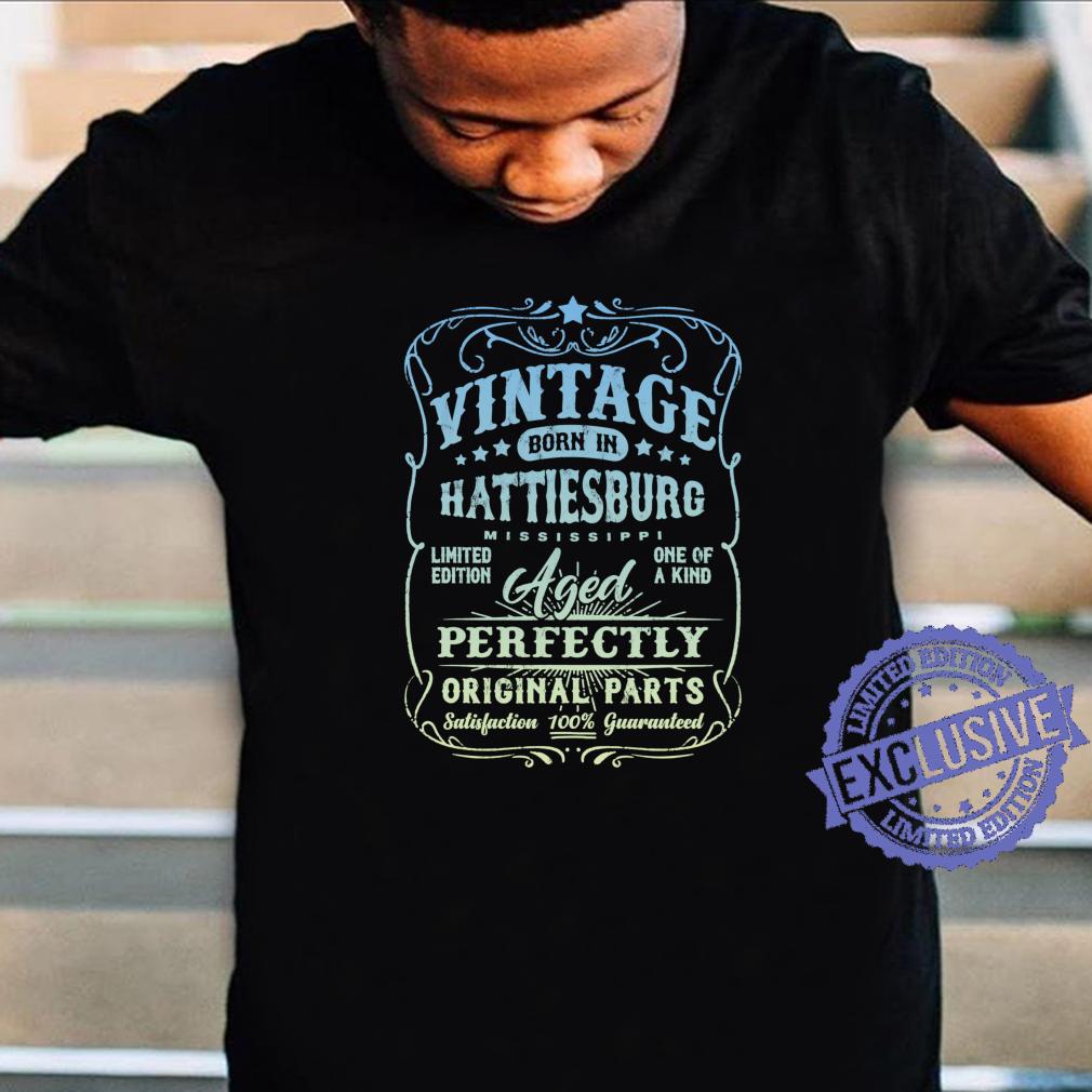 Vintage Born In Hattiesburg, Mississippi Classic Birthday Shirt