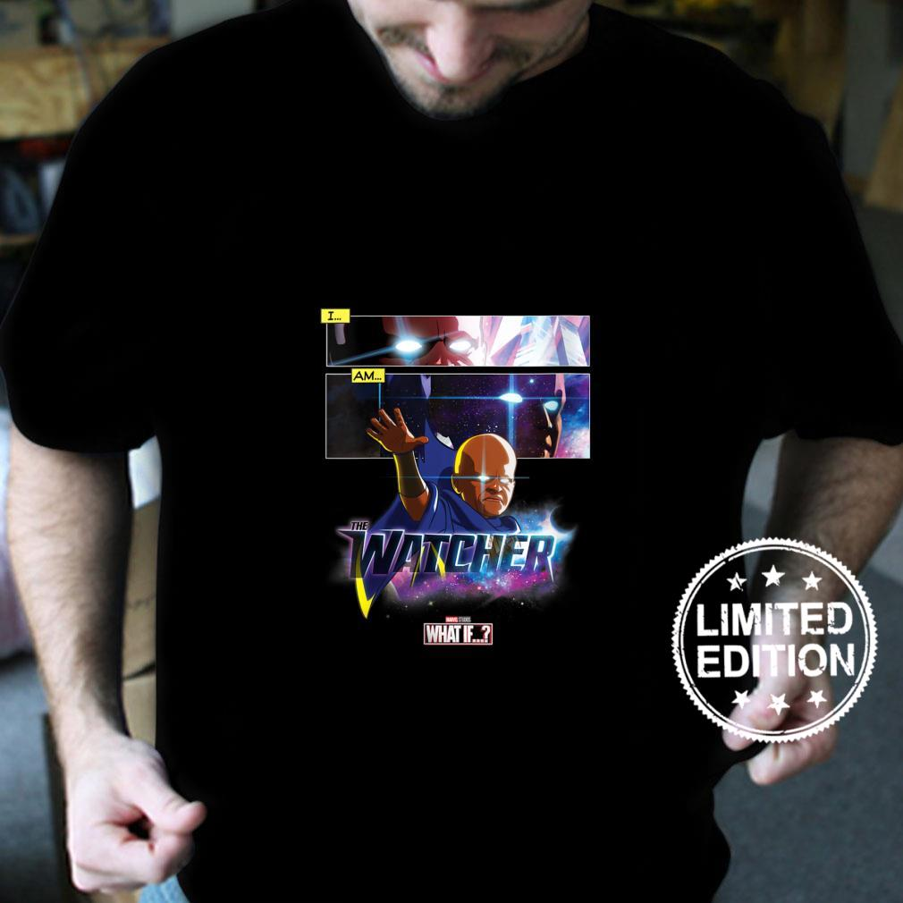 Womens Marvel What If The Watcher Reaching Out Comic Panels Shirt