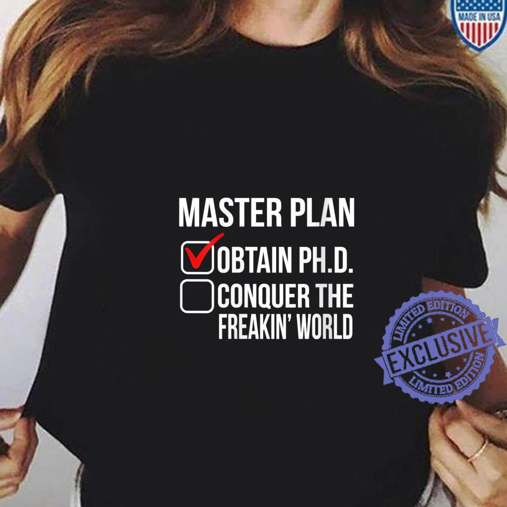 Womens PhD Doctorate Graduation Shirt ladies tee
