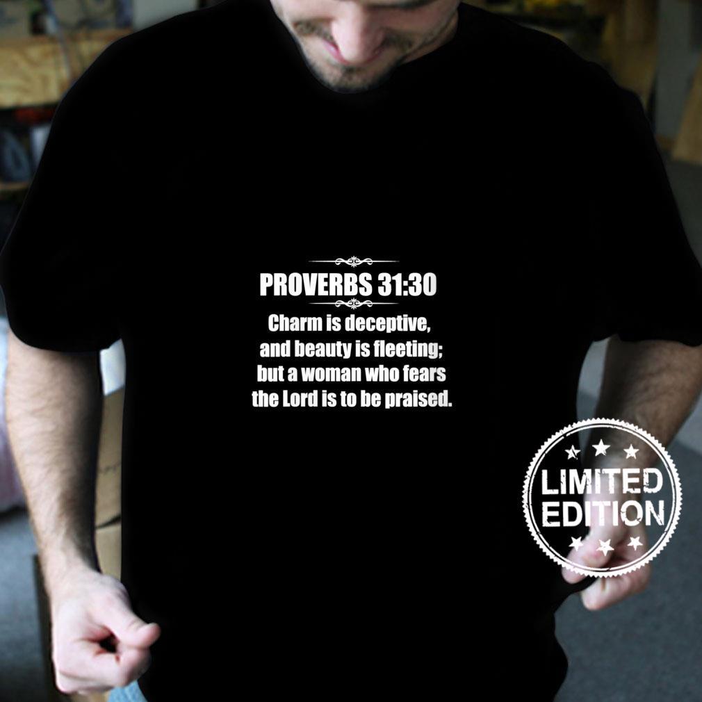 Womens Proverbs 3130 God fearing Bible Verse Jesus Christian Shirt