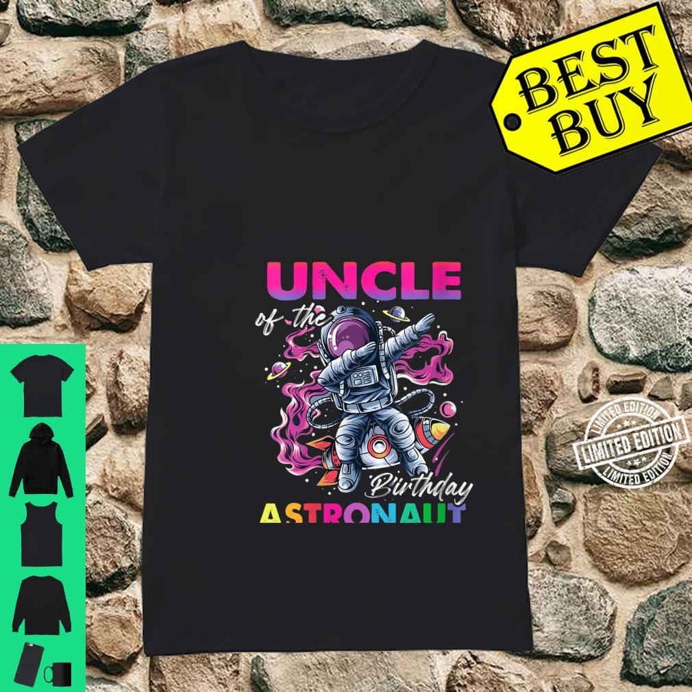 Womens Uncle Of The Birthday Astronaut Space Theme Shirt ladies tee