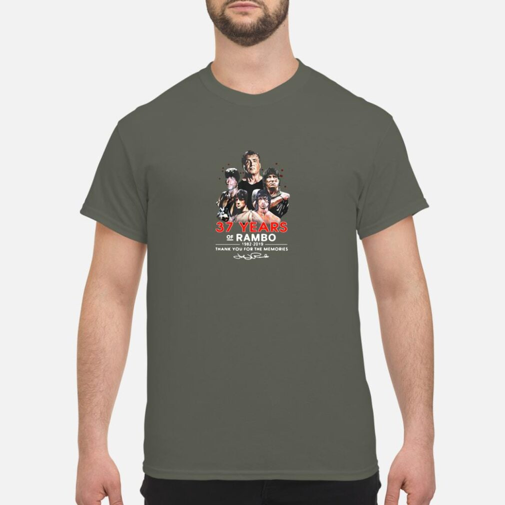 37 years of Rambo 1982-2019 thank you for the memories shirt