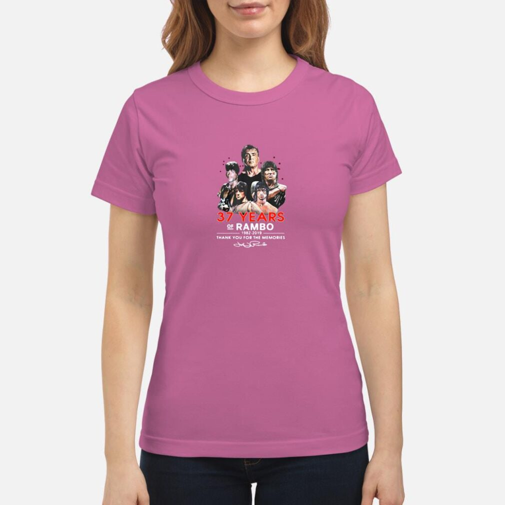 37 years of Rambo 1982-2019 thank you for the memories shirt ladies tee