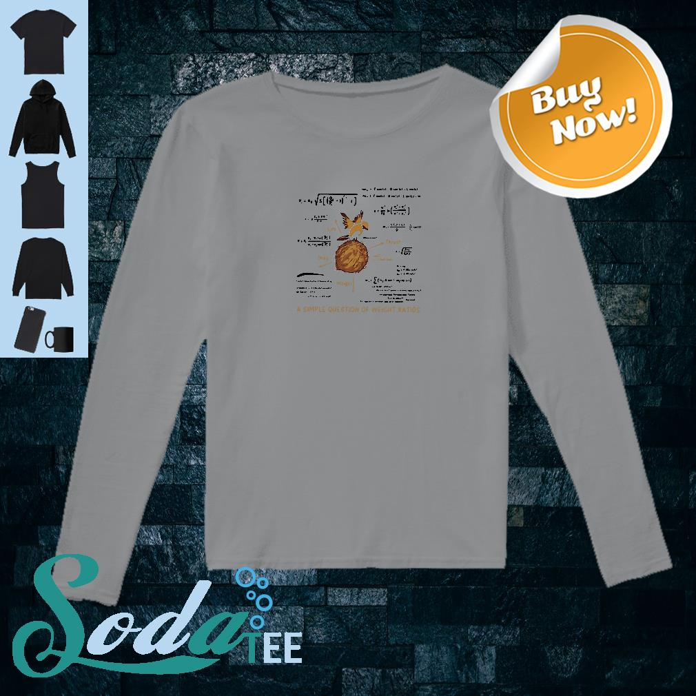 A simple question of weight ratios shirt long sleeved