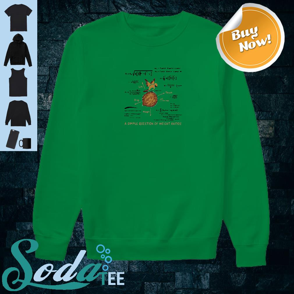 A simple question of weight ratios shirt sweater