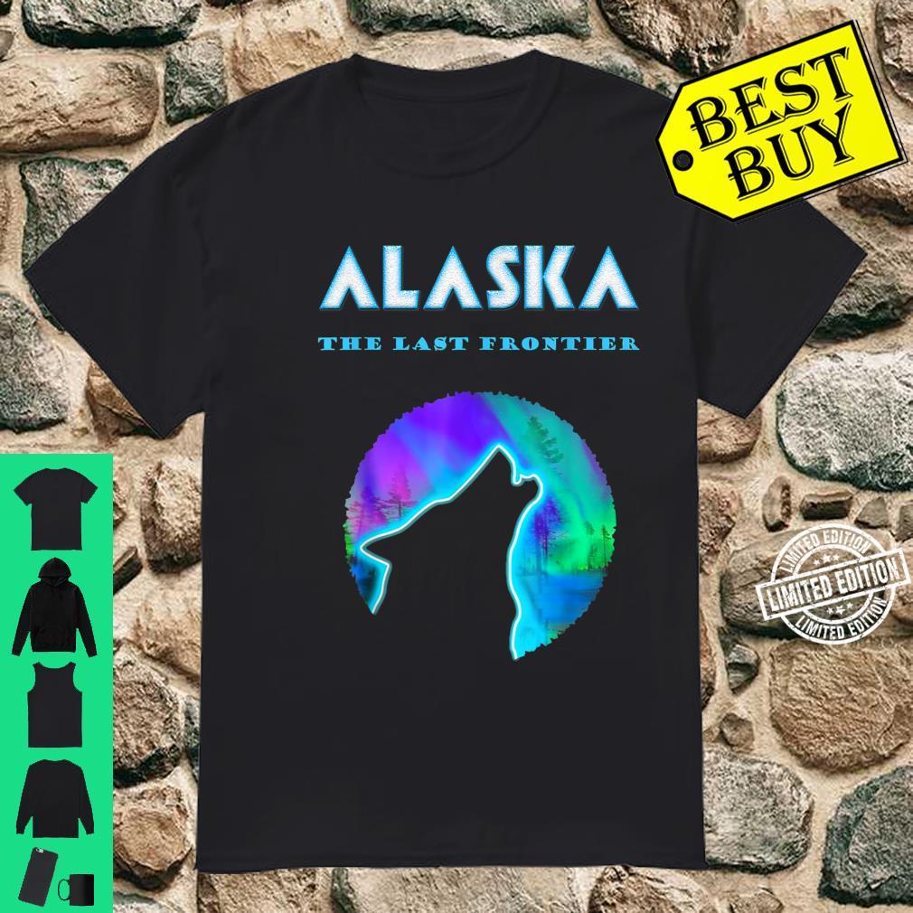 Alaska Wild Wolf with Aurora Shirt