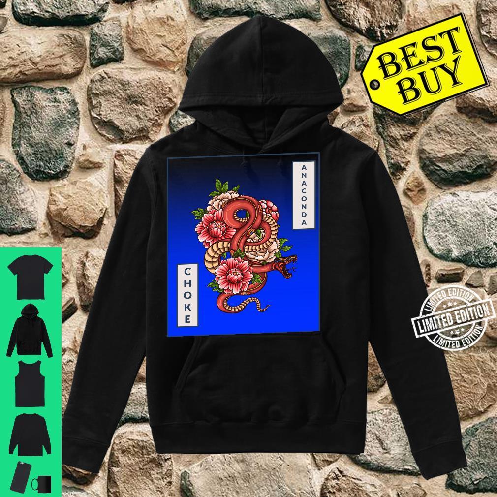 Anaconda Choke Artistic Snake, Brazilian JiuJitsu, MMA, BJJ Shirt hoodie
