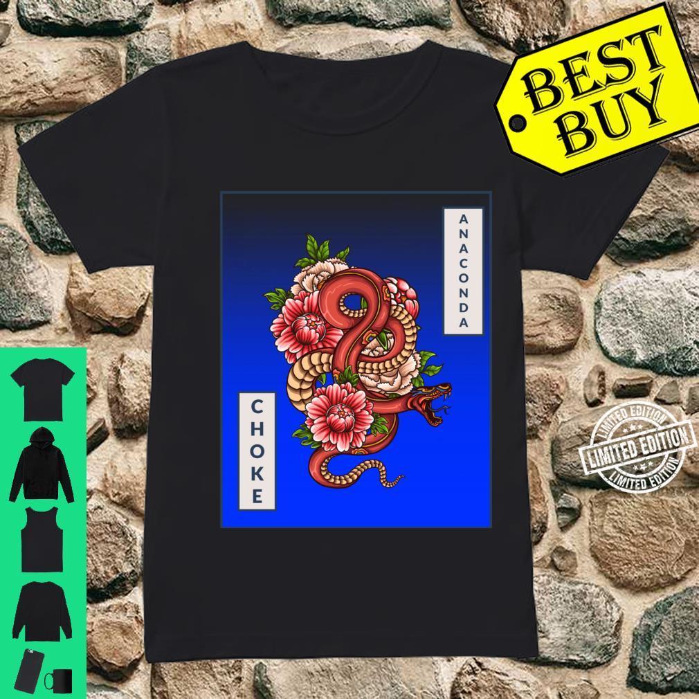 Anaconda Choke Artistic Snake, Brazilian JiuJitsu, MMA, BJJ Shirt ladies tee
