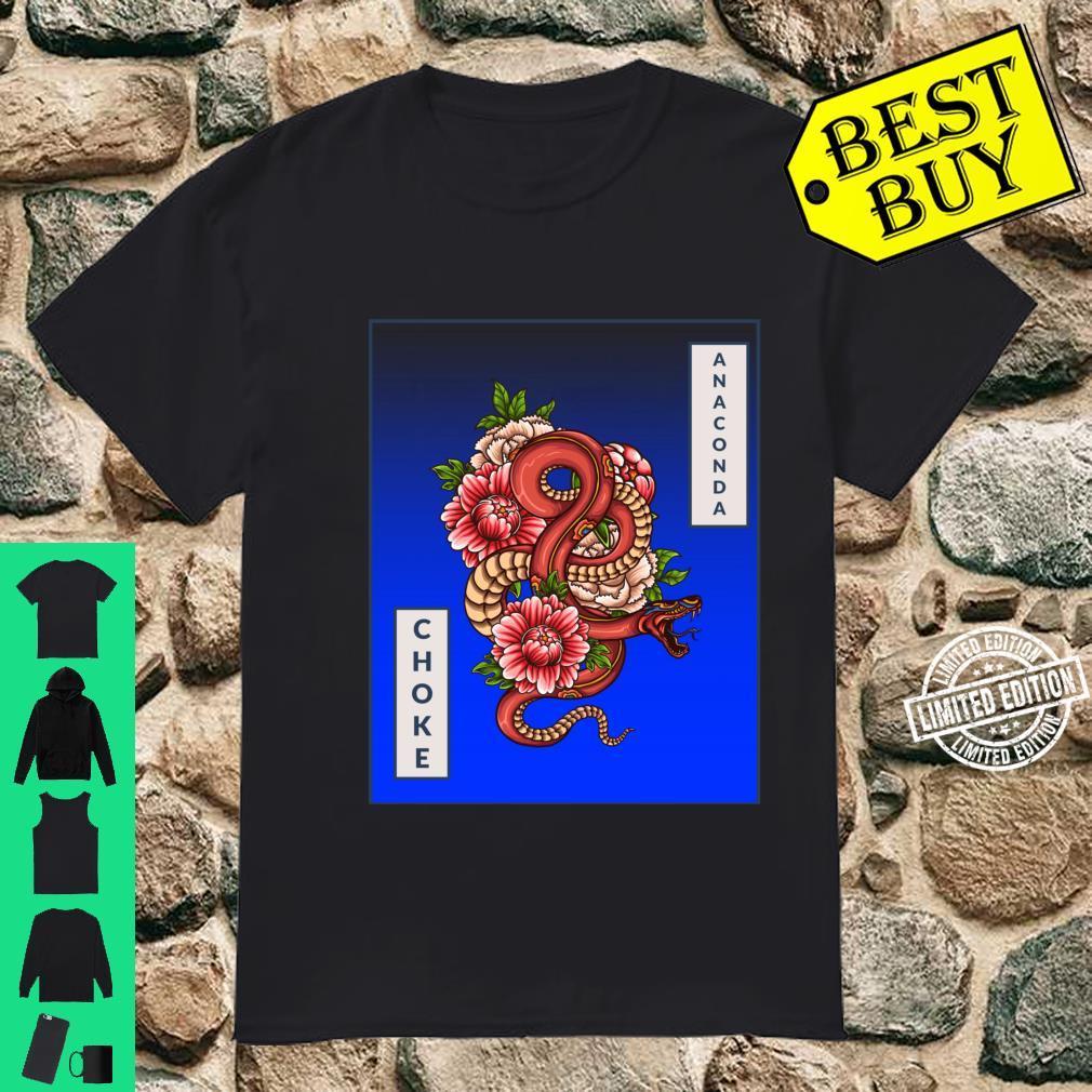Anaconda Choke Artistic Snake, Brazilian JiuJitsu, MMA, BJJ Shirt