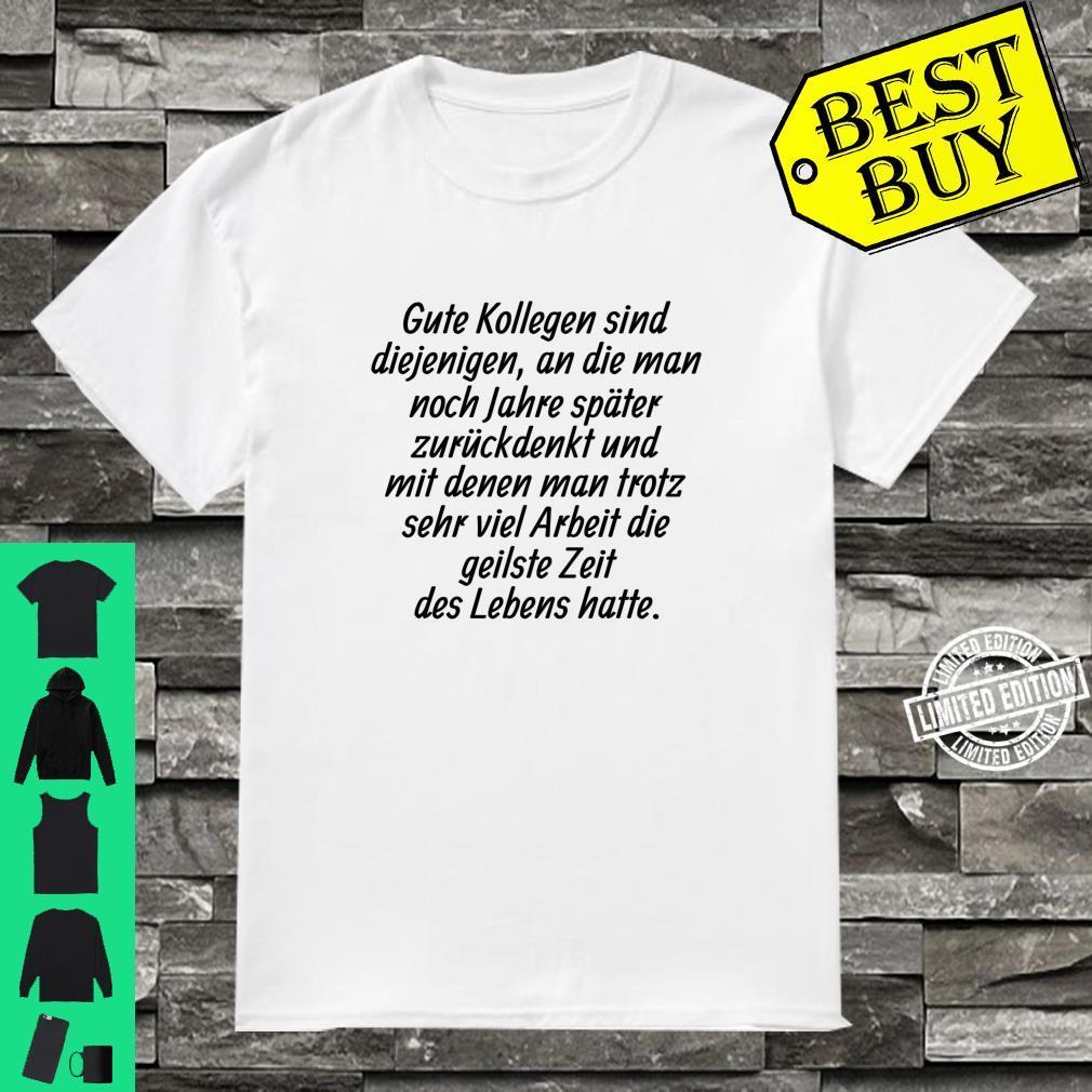 Beste Arbeitskollegen Arbeit Büro Abschied Geschenk Langarmshirt Shirt