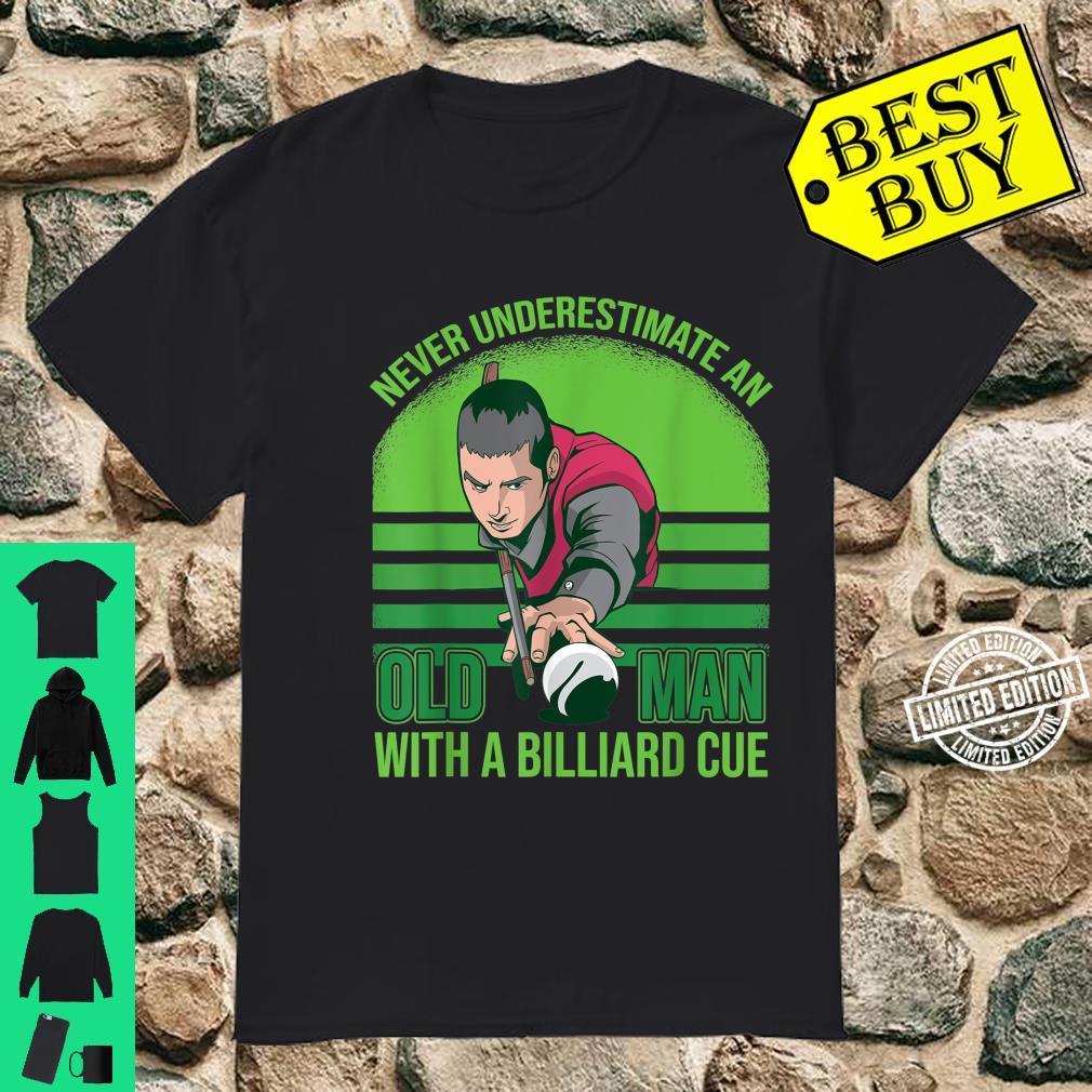 Billard Spieler Snooker Queue Shirt