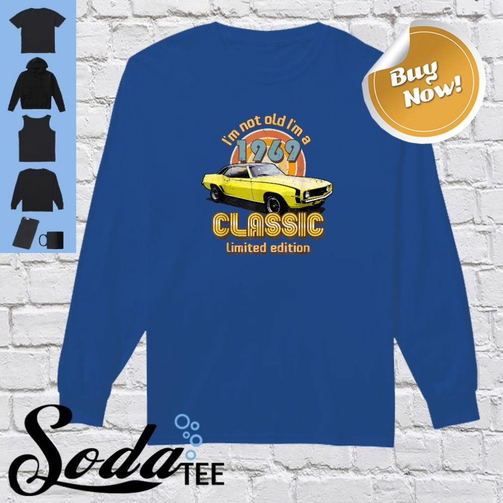 Born in 1969 Automotive Vintage Shirt long sleeved