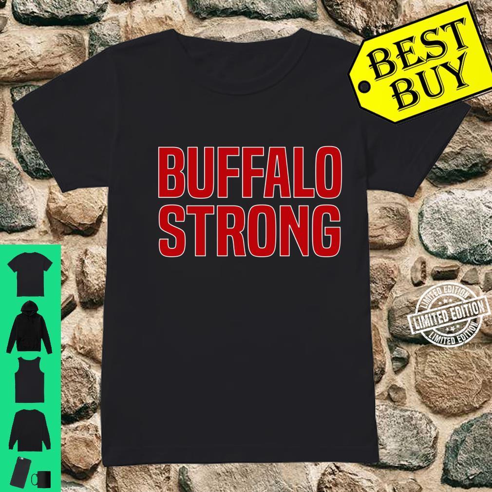 Buffalo Strong Blue Football Fan Buffalo Shirt ladies tee