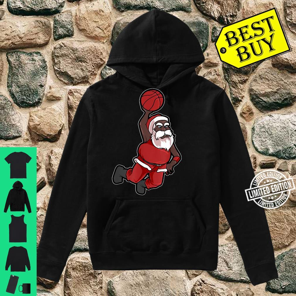 Christmas Basketball African American Santa Cute Shirt hoodie