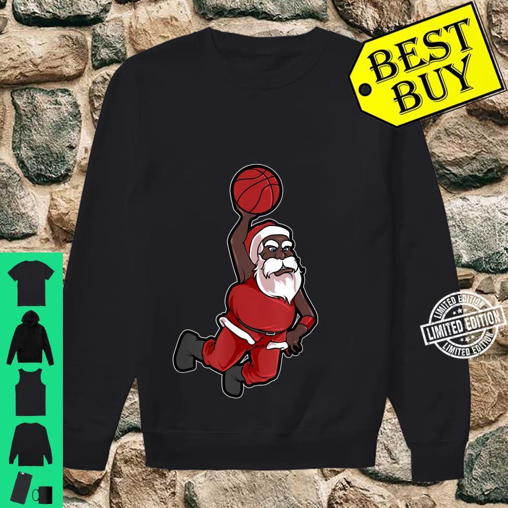 Christmas Basketball African American Santa Cute Shirt sweater
