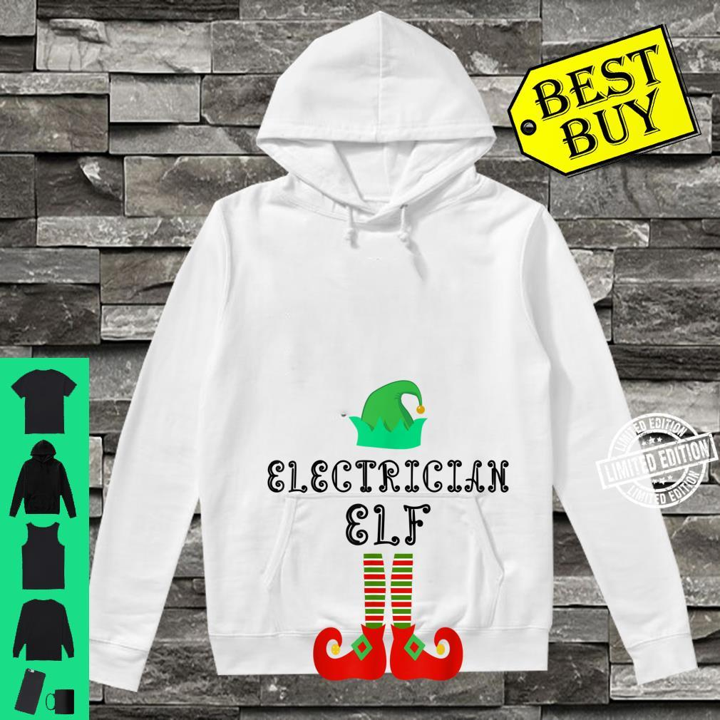Electrician Elf Family Matching Christmas Pajama Shirt hoodie