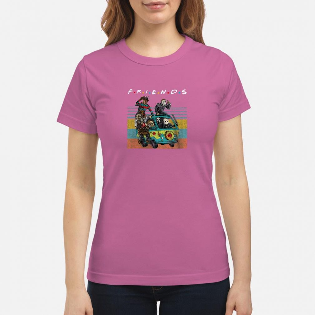 Friends tv show characters horror movies shirt ladies tee