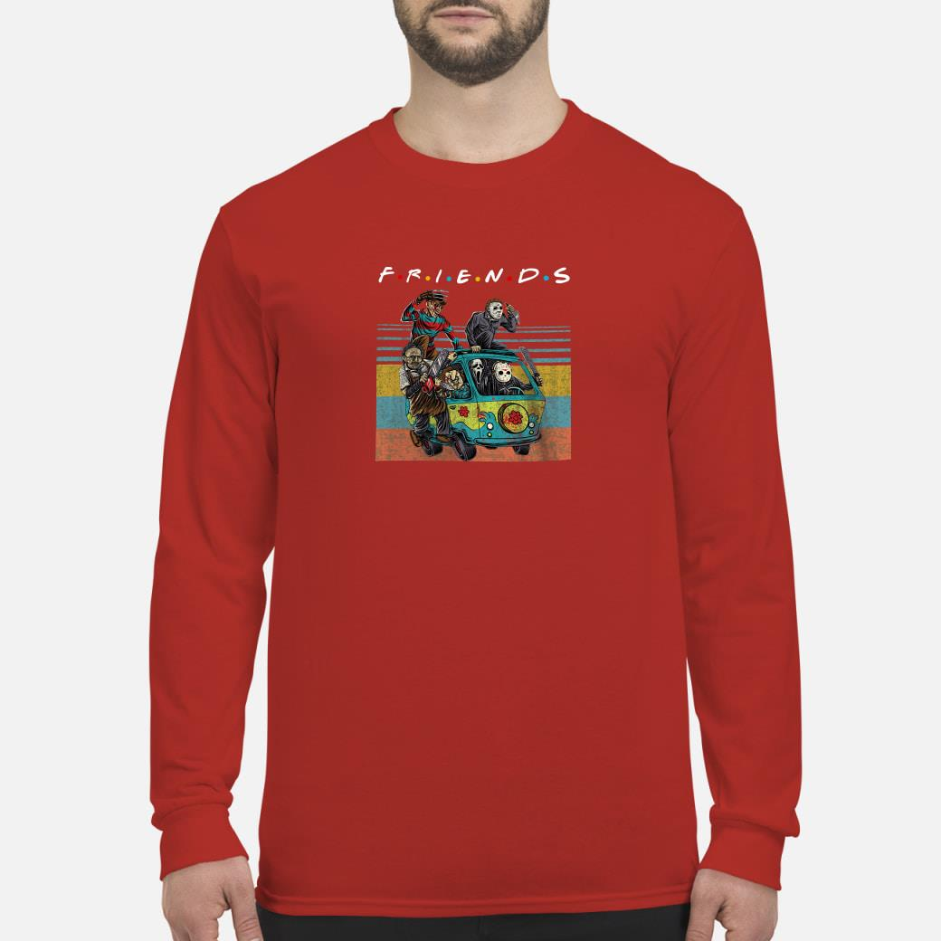 Friends tv show characters horror movies shirt long sleeved