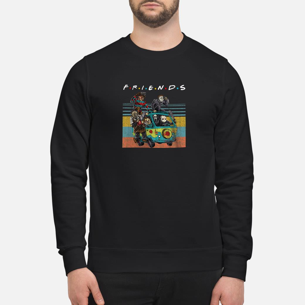 Friends tv show characters horror movies shirt sweater