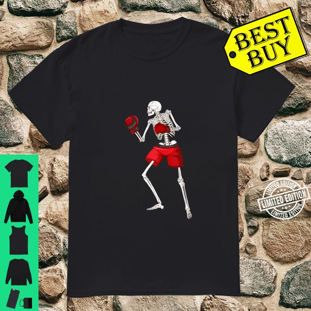 Funny Skeleton Boxing Scary Halloween Boxer Sports Shirt