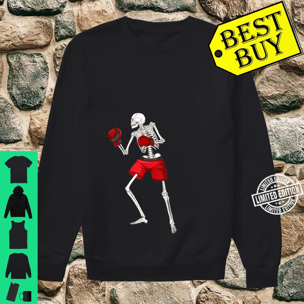 Funny Skeleton Boxing Scary Halloween Boxer Sports Shirt sweater