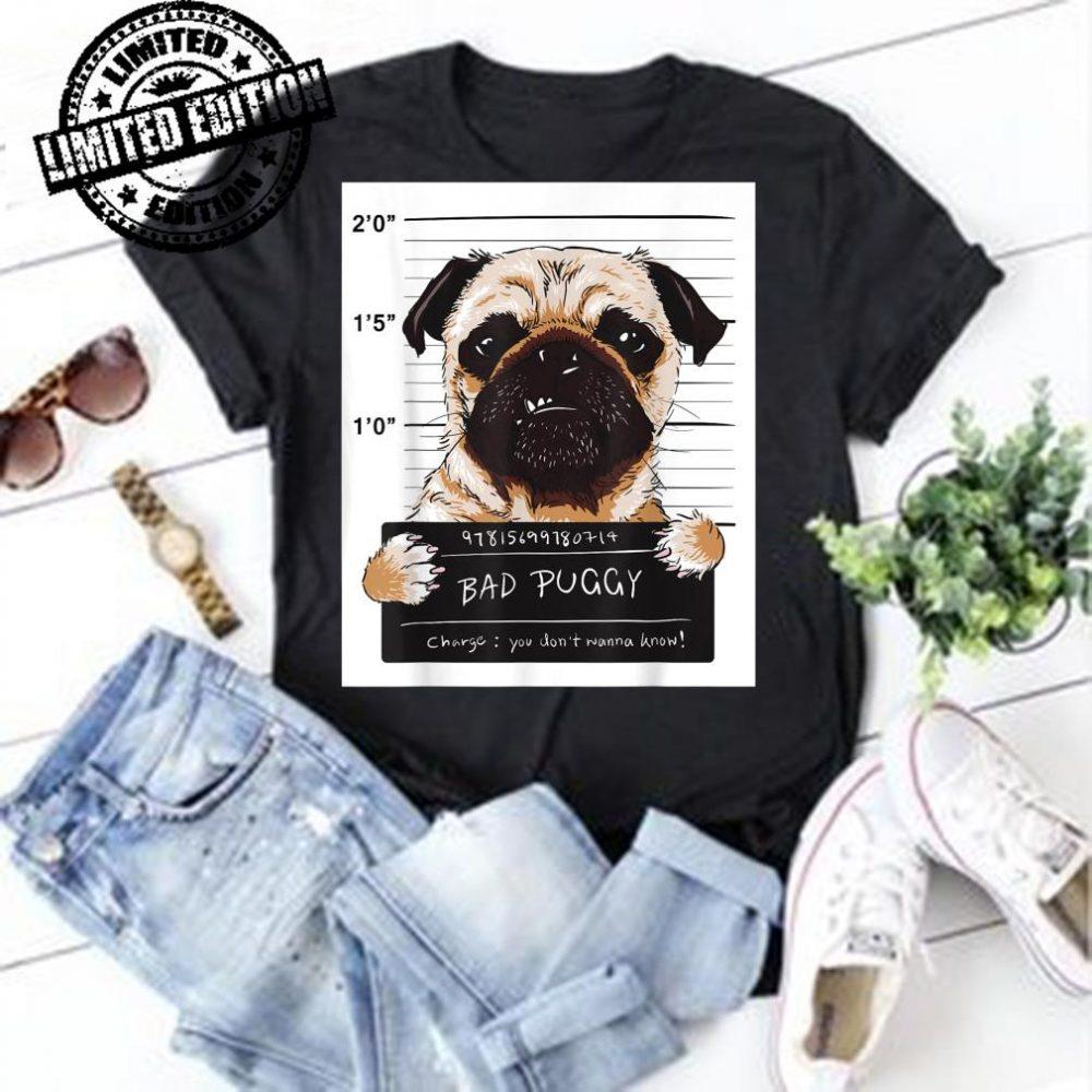 Gangster Pug Bad Puggy Dog shirt
