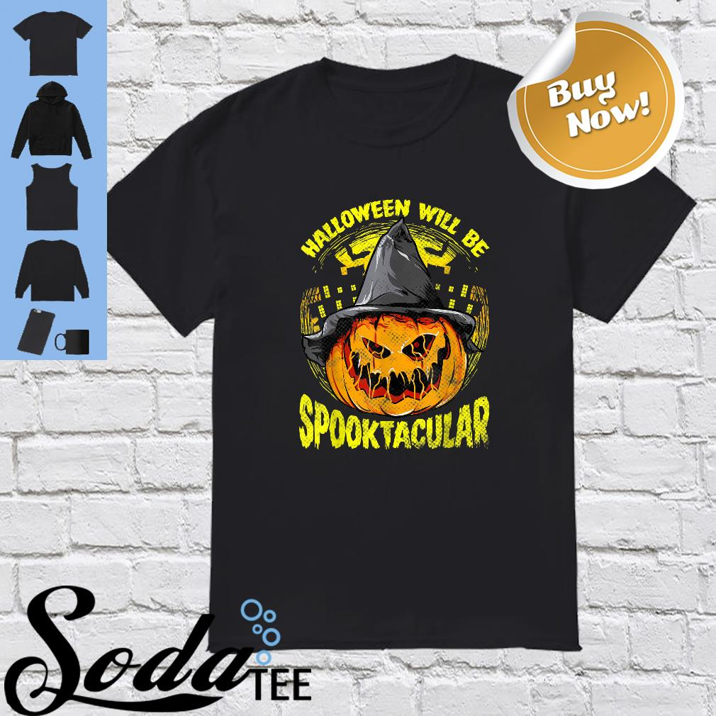 Halloween Pumpkin Witch Scary Spooky Shirt