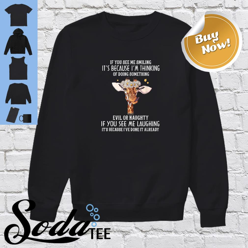 If you see me smiling it's because I'm thinking of doing something evil or naughty shirt sweater