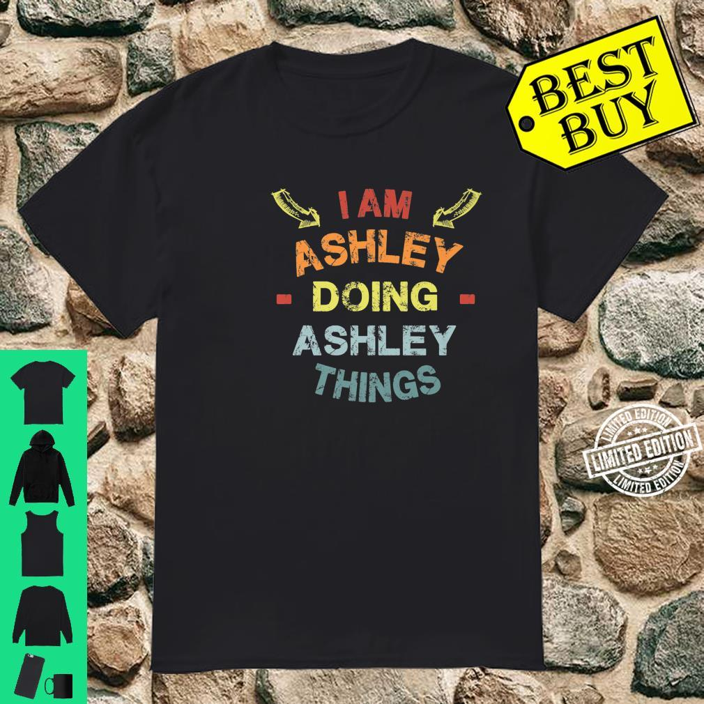 I'm Ashley Doing Ashley Things Cool Christmas Shirt