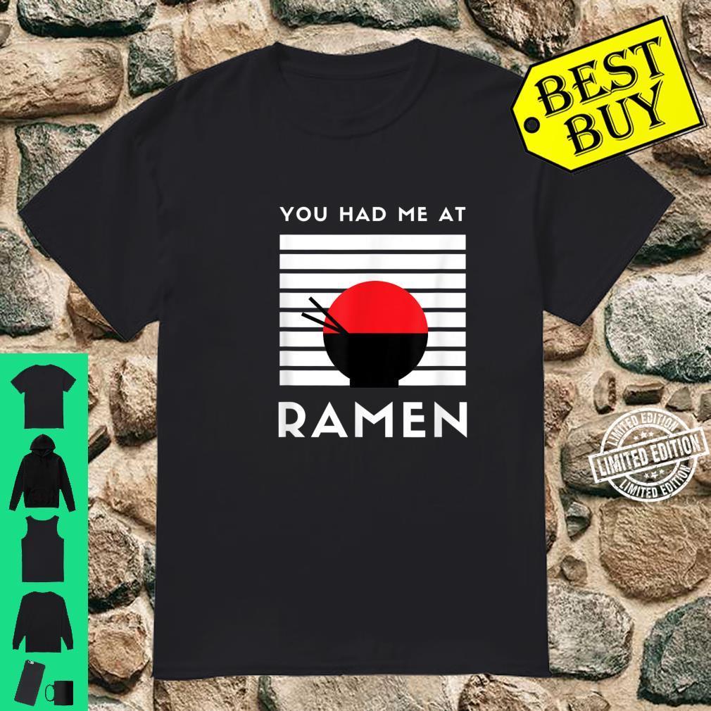 Instant Ramen Noodle Bowl Bento Food Noodles Shirt