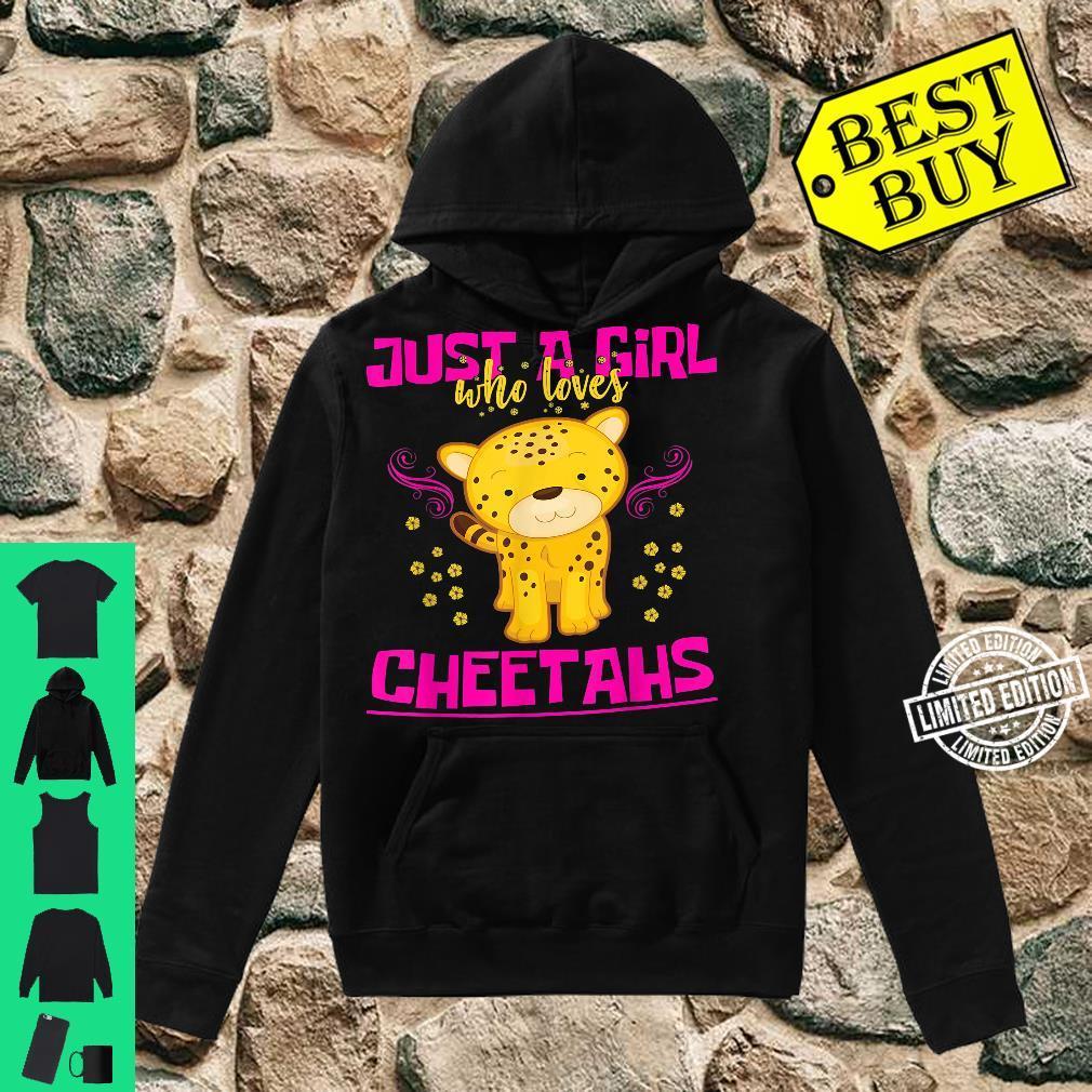 Just A Girl Who Loves Cheetahs Cat Girls Cheetah Shirt hoodie