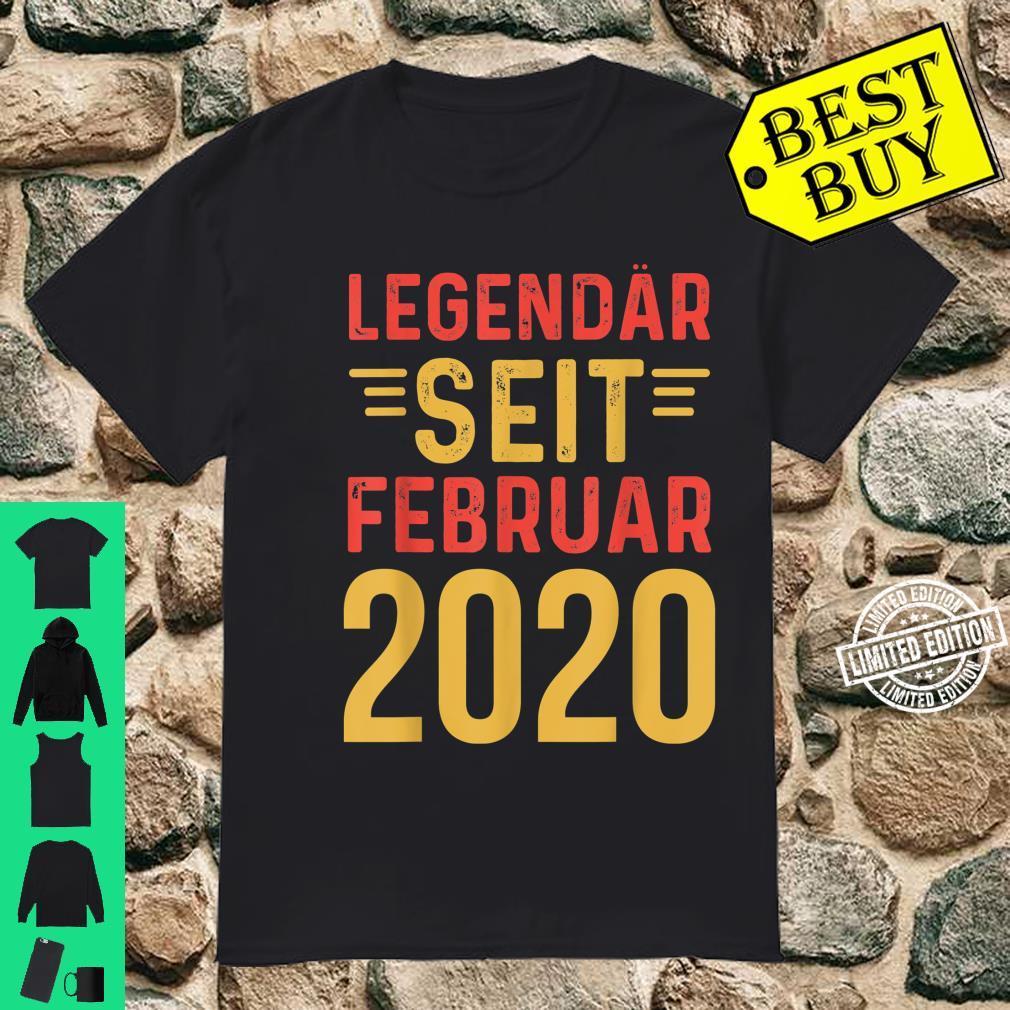 Legendär Februar 2002 18. Volljährig Shirt