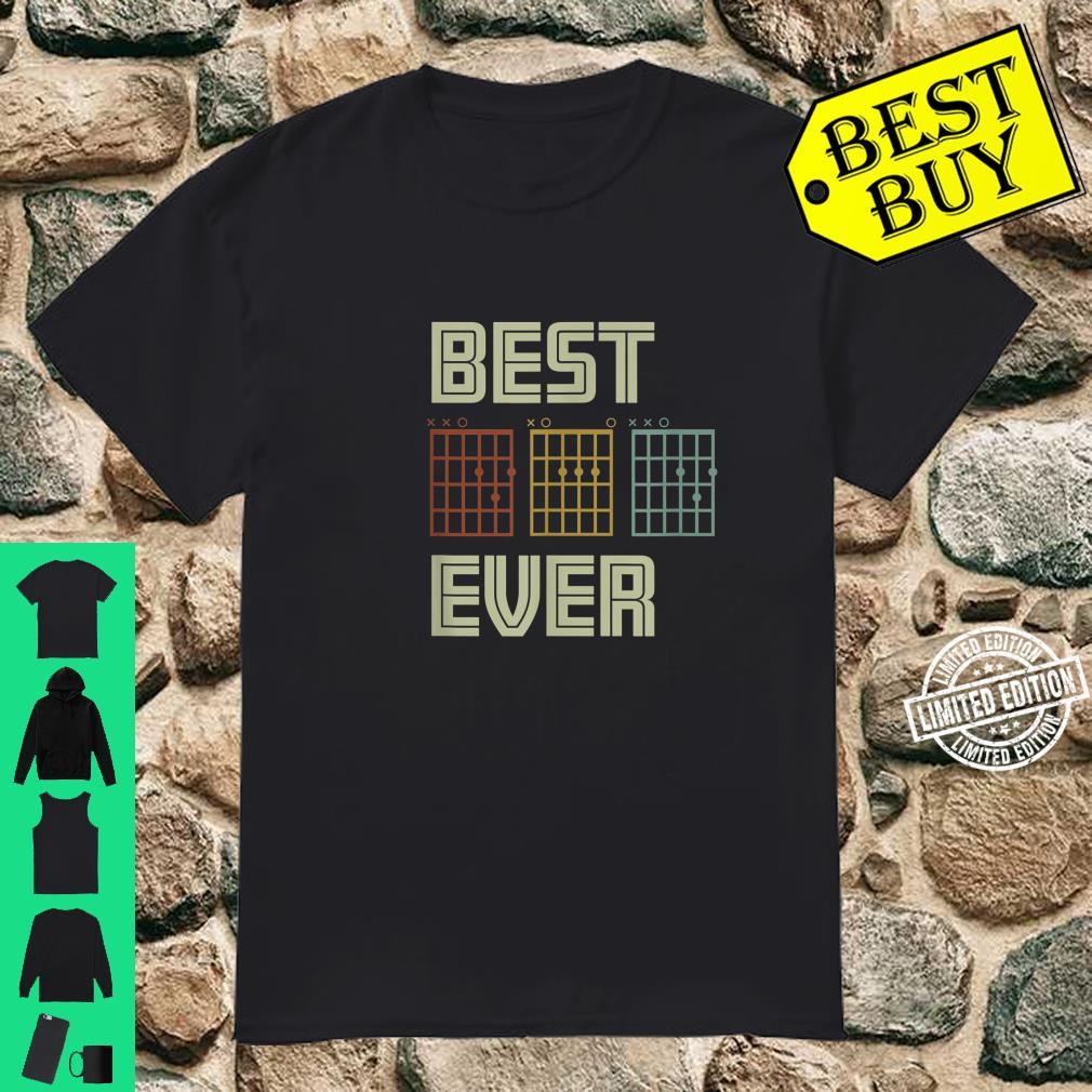 Mens Dad Guitar Chord Shirt Best Dad Ever Fathers Day Shirt